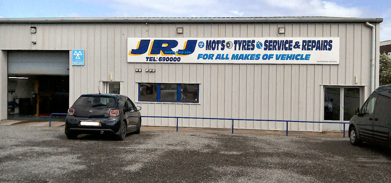 MOT Tests, Tyres and Exhausts, and General Garage Services at JRJ Lerwick Ltd.
